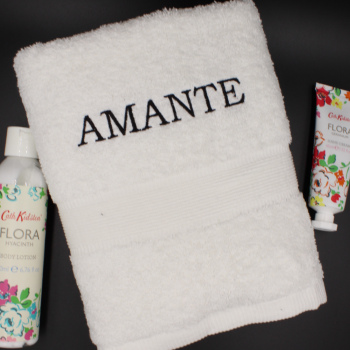 Personalised Hand Towel White Hand Towel