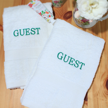 Personalised Hand Towels White Hand Gift Set