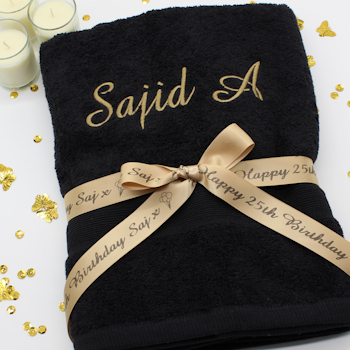 Personalised Towel with Gift Ribbon
