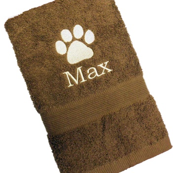 Pet Towel Personalised Dog Paw Print Towel