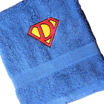 Superman Towel Personalised Monogram Bath Towel
