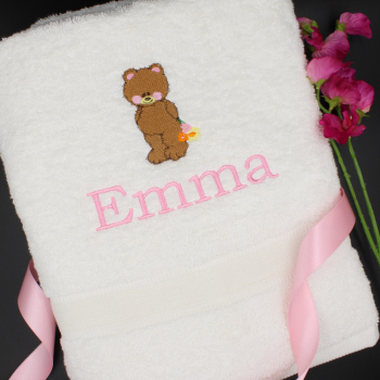 Teddy Bear Towel Personalised Bath Towel
