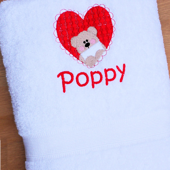 Heart Bear Towel Gift