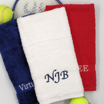 Sports Towel Personalised Gym Towel White