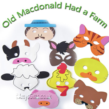 Masks Old MacDonald Song and Story Mask Set