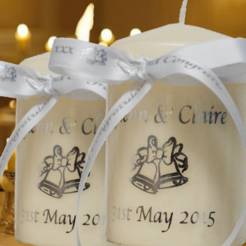 Wedding Candle Personalised Anniversary Candle