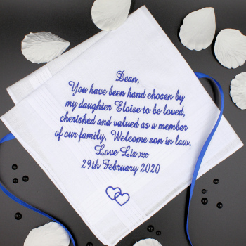Mens Poem Message Hanky