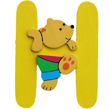 Wooden Letters H Personalised Initials Personalised Animals & Dolls