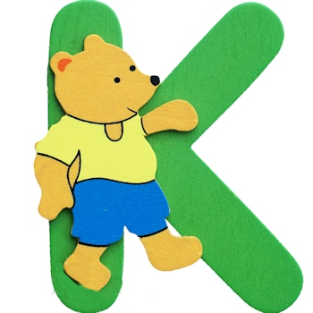 Wooden Letters K Personalised Initial Personalised Animals & Dolls