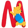 Wooden Letters M Personalised Initial Personalised Animals & Dolls