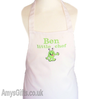 Personalised Kids Apron White