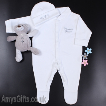Hat and Sleepsuit Gift Set