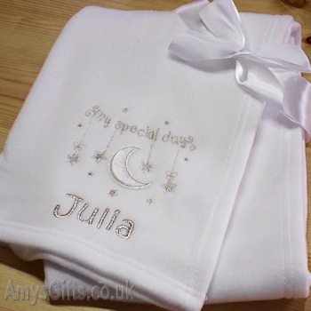 Babys Naming Day White Wrap