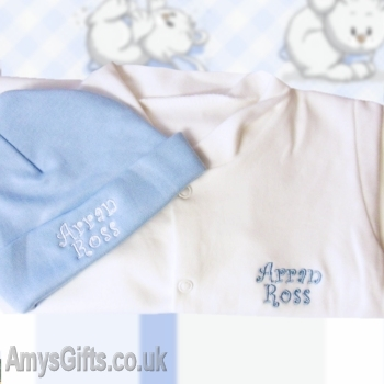 Personalised Blue and White Set