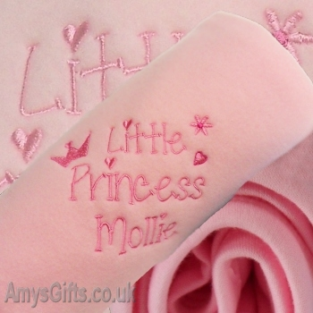 Pink Embroidered Girls Little Princess Wrap