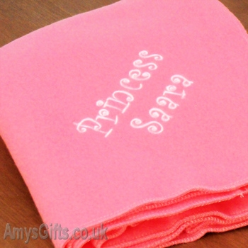 Handmade Candy Pink Throw