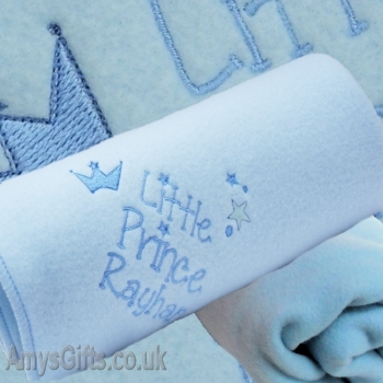 Blue Embroidered Boys Little Prince Wrap
