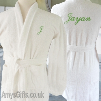 Personalised Bathrobe 10-11 Yrs
