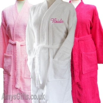 White Ladies Robe Embroidered