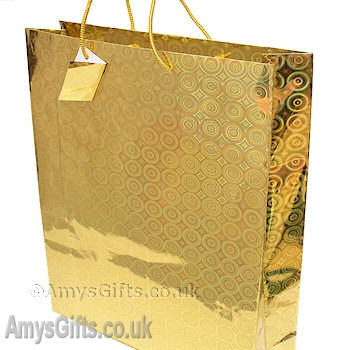Gold Holographic Gift Bag