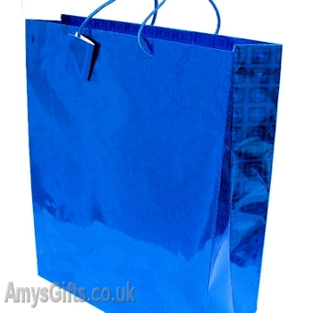 Blue Holographic Gift Bag