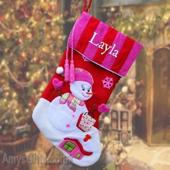 Luxury Candy Stripe Pink Stocking