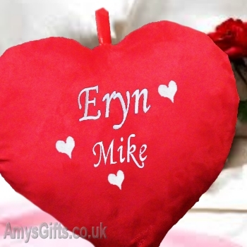 Red Love Heart Shaped Cushion