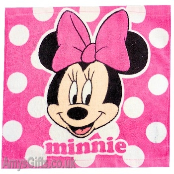 Minnie Mouse Polka Face Cloth Flannel