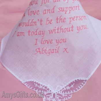 Bride Bridesmaid Butterfly Lace Hanky