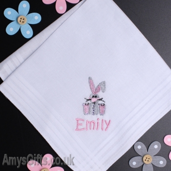 Personalised Rabbit Handkerchief