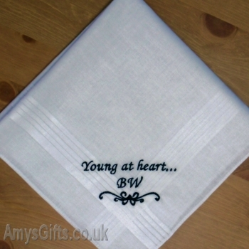 Mens Message Embroidered Handkerchief