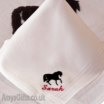 Ladies White Cotton Hanky