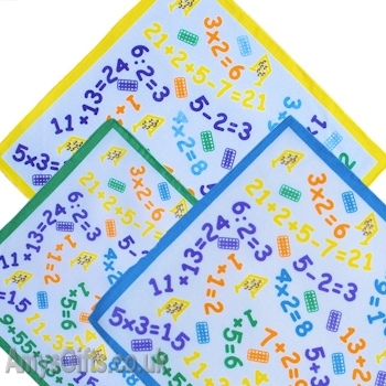 Maths Numbers Kids Hankies