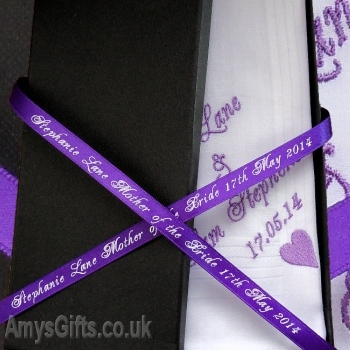 Single Hanky Gift Box with Personalised Ribbon