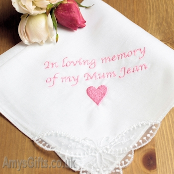 Personalised Ladies Sympathy Hankie