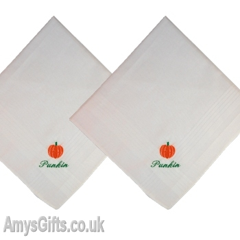 Pumpkin Embroidered Hankies