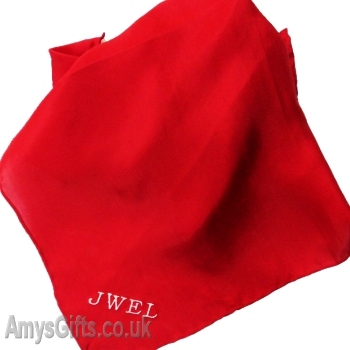 Embroidered pocket square red silk handkerchief for What do we use silk for