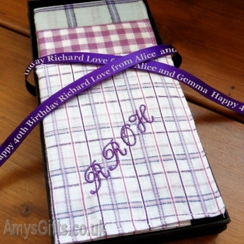Lilac Chequered Set of 3