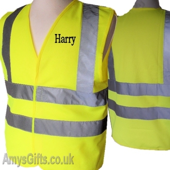 Childrens Personalised High Visibility Vest