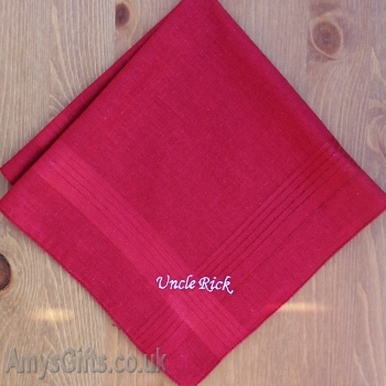 Mens Red Cotton Hanky