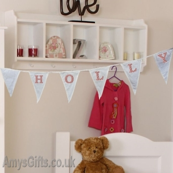 Embroidered Cotton Bunting Decoration