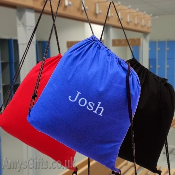 Royal Blue School Swim or Gym Bag Personalised