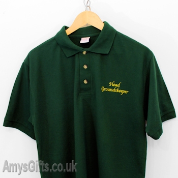 Personalised Shirt Bottle Green