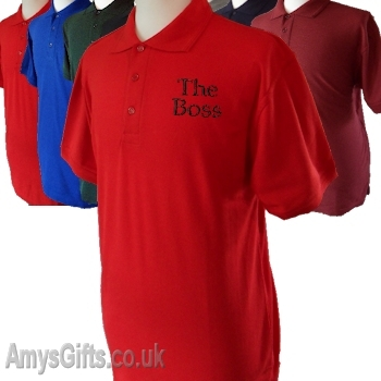 Embroidered Polo Shirt Red