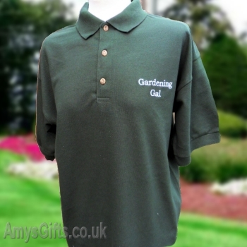 Embroidered Bottle Green Polo Shirt