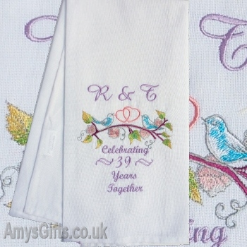 Love Birds Embroidered Gift