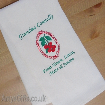 Personalised Embroidered Kitchen Towel