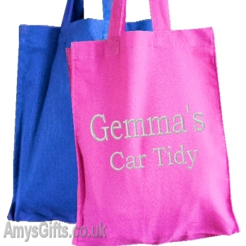 Personalised Embroidered Pink Tote