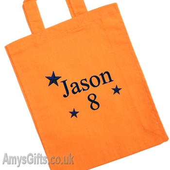 Orange Cotton Goody Bag