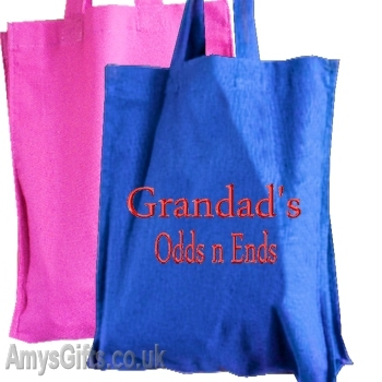 Personalised Blue Cotton Tote